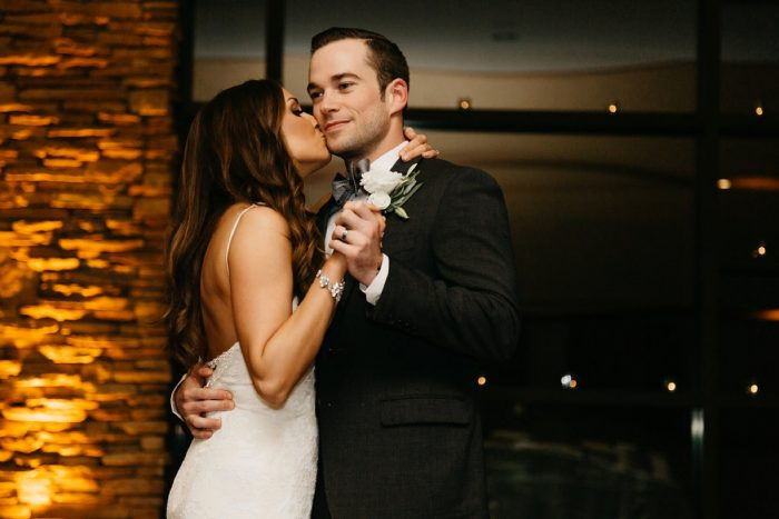Bride and Groom First Dance: Rustic Modern Wedding at Nemacolin from David McCandless Photography featured on Burgh Brides