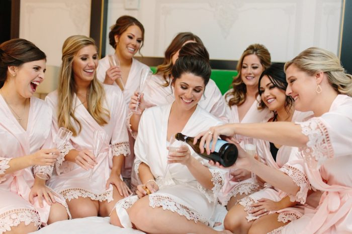 Matching Bridesmaids Robes: Soft & Chic Wedding at Hotel Monaco from Jeannine Bonadio Photography featured on Burgh Brides