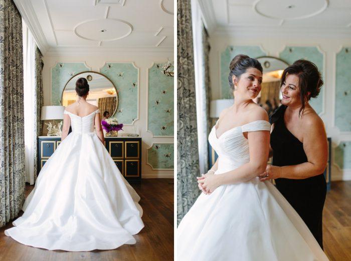 Ballgown Wedding Dress: Soft & Chic Wedding at Hotel Monaco from Jeannine Bonadio Photography featured on Burgh Brides
