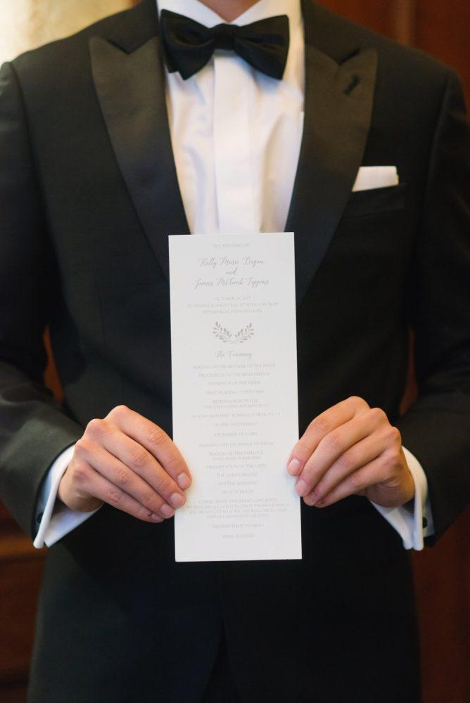 Wedding Ceremony Programs: Soft & Chic Wedding at Hotel Monaco from Jeannine Bonadio Photography featured on Burgh Brides