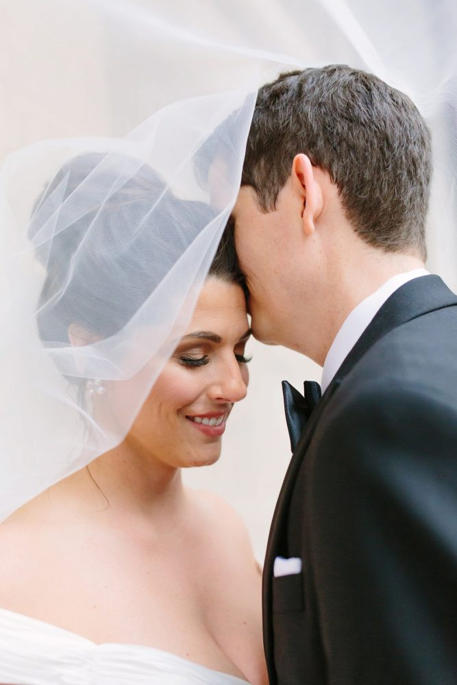 Bridal Veil: Soft & Chic Wedding at Hotel Monaco from Jeannine Bonadio Photography featured on Burgh Brides