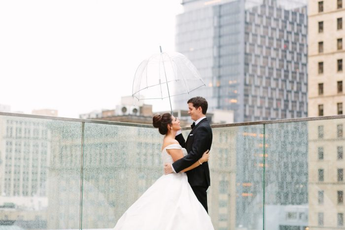 Rainy Wedding Day: Soft & Chic Wedding at Hotel Monaco from Jeannine Bonadio Photography featured on Burgh Brides