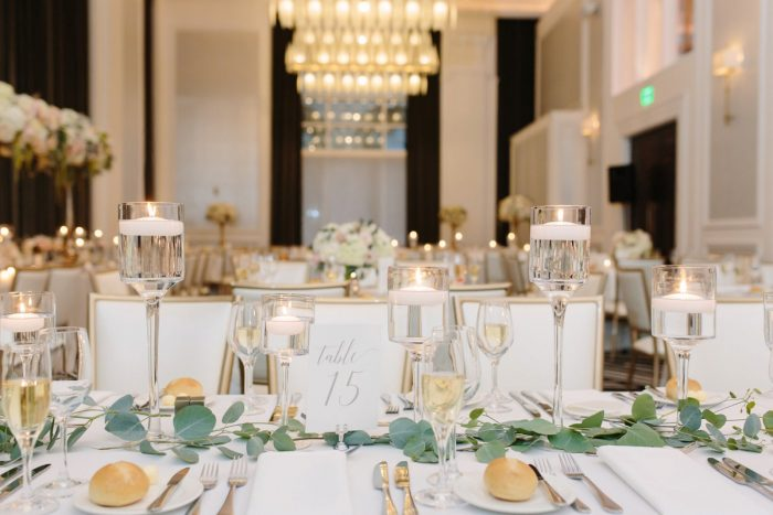 Greenery Table Runner: Soft & Chic Wedding at Hotel Monaco from Jeannine Bonadio Photography featured on Burgh Brides