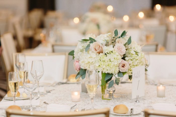 Blush Wedding Flowers: Soft & Chic Wedding at Hotel Monaco from Jeannine Bonadio Photography featured on Burgh Brides