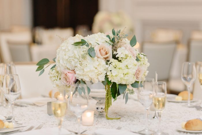 Pink and Green Wedding Flowers: Soft & Chic Wedding at Hotel Monaco from Jeannine Bonadio Photography featured on Burgh Brides