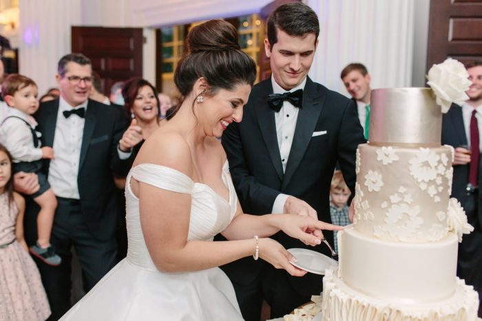 Wedding Cake Cutting: Soft & Chic Wedding at Hotel Monaco from Jeannine Bonadio Photography featured on Burgh Brides