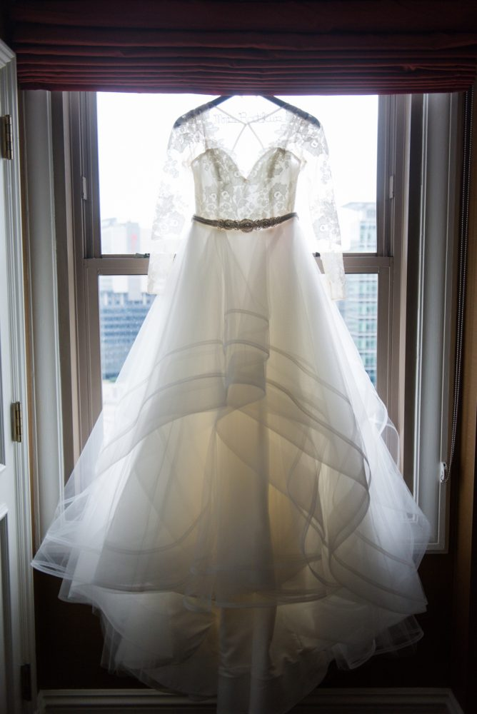 Lace Sleeved Wedding Dress: Sophisticated Merlot Wedding at the Omni William Penn Hotel from Leeann Marie, Wedding Photographers featured on Burgh Brides