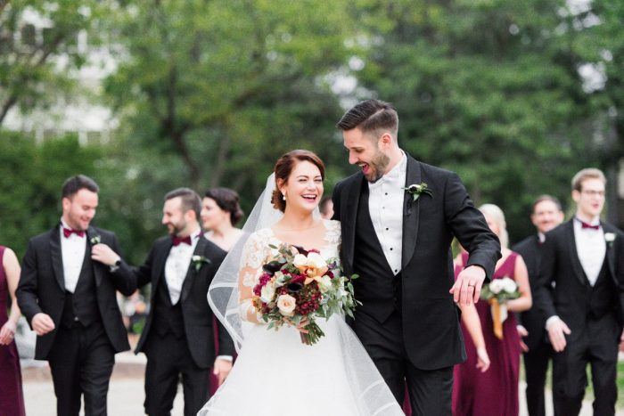 Fall Wedding Bouquet for Bride: Sophisticated Merlot Wedding at the Omni William Penn Hotel from Leeann Marie, Wedding Photographers featured on Burgh Brides