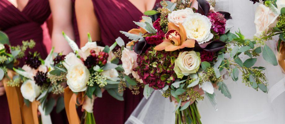 Sophisticated Merlot Omni William Penn Wedding