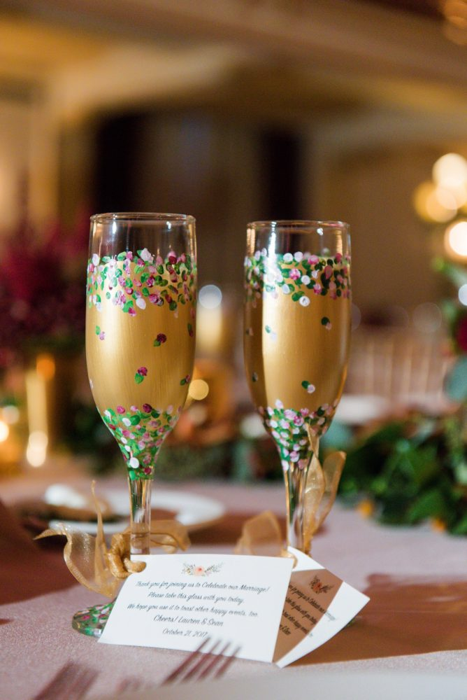 Wedding Toasting Flutes: Sophisticated Merlot Wedding at the Omni William Penn Hotel from Leeann Marie, Wedding Photographers featured on Burgh Brides