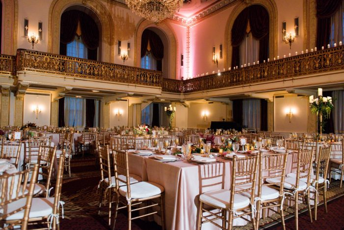 Wedding Lighting Ideas: Sophisticated Merlot Wedding at the Omni William Penn Hotel from Leeann Marie, Wedding Photographers featured on Burgh Brides