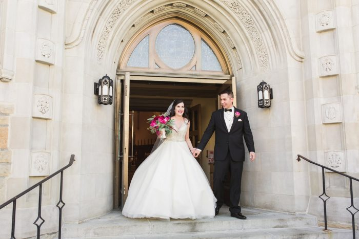 Wedding Ceremony Exits: Sparkly Gold Wedding at Longue Vue Club from Jeannine Bonadio Photography featured on Burgh Brides