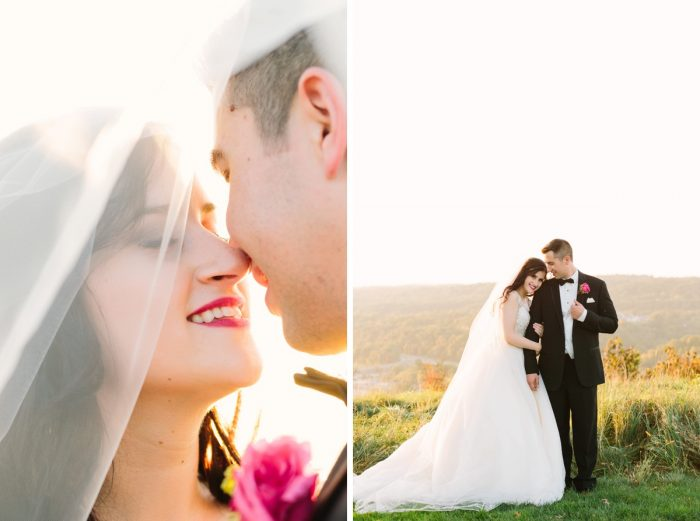 Sunset Wedding Portaits: Sparkly Gold Wedding at Longue Vue Club from Jeannine Bonadio Photography featured on Burgh Brides