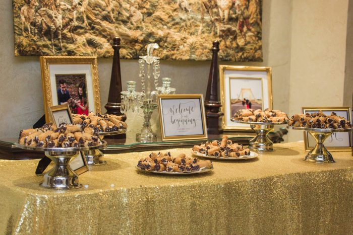Pittsburgh Cookie Table: Sparkly Gold Wedding at Longue Vue Club from Jeannine Bonadio Photography featured on Burgh Brides