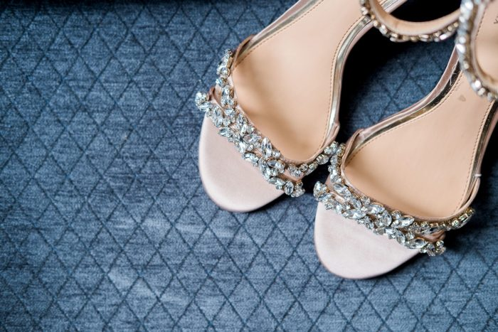 Rhinestone Bridal Shoes: Thoughtful Vintage Wedding at the Pittsburgh Botanic Gardens from Caitlin's Living Photography featured on Burgh Brides