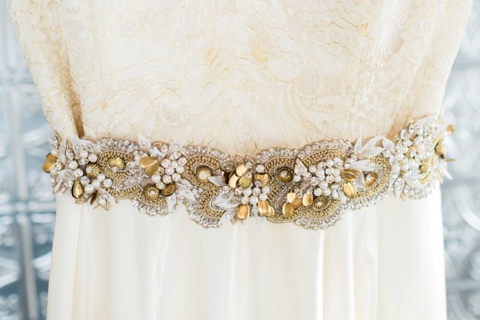 Beaded Bridal Belt: Thoughtful Vintage Wedding at the Pittsburgh Botanic Gardens from Caitlin's Living Photography featured on Burgh Brides