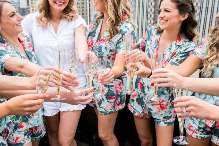 Floral Bridesmaids Robes: Thoughtful Vintage Wedding at the Pittsburgh Botanic Gardens from Caitlin's Living Photography featured on Burgh Brides