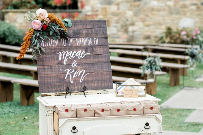 Wooden Wedding Welcome Signs: Thoughtful Vintage Wedding at the Pittsburgh Botanic Gardens from Caitlin's Living Photography featured on Burgh Brides