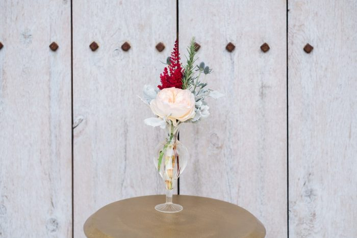 Wedding Cocktail Floral Arrangements: Thoughtful Vintage Wedding at the Pittsburgh Botanic Gardens from Caitlin's Living Photography featured on Burgh Brides