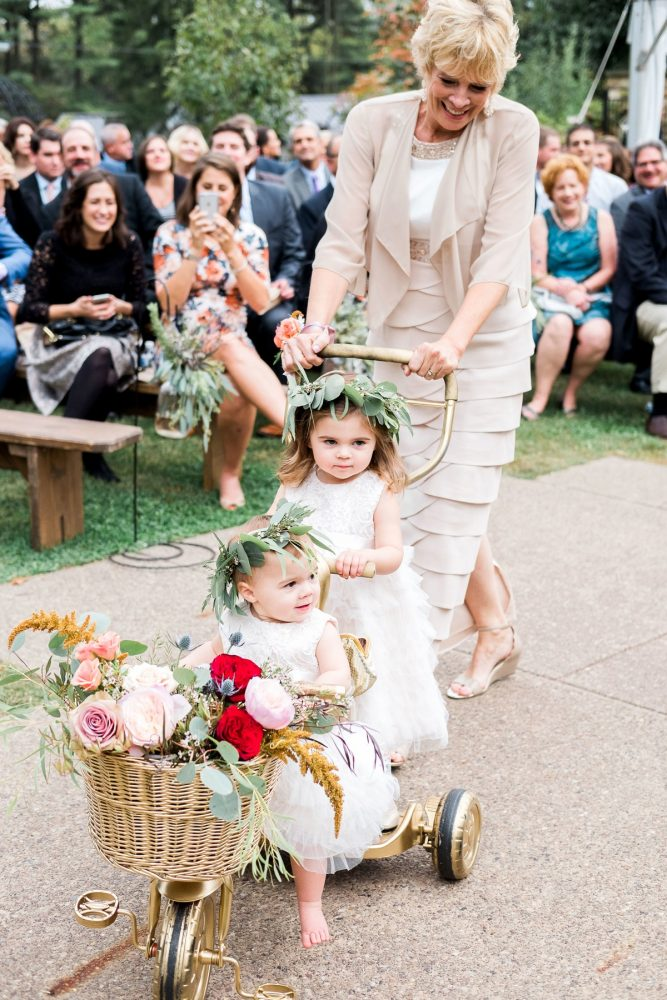 Cute Flower Girls: Thoughtful Vintage Wedding at the Pittsburgh Botanic Gardens from Caitlin's Living Photography featured on Burgh Brides