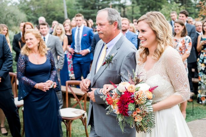 Outdoor Wedding Ceremony: Thoughtful Vintage Wedding at the Pittsburgh Botanic Gardens from Caitlin's Living Photography featured on Burgh Brides
