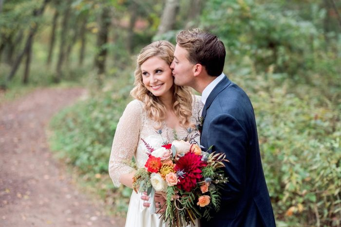 Fall Wedding Photos: Thoughtful Vintage Wedding at the Pittsburgh Botanic Gardens from Caitlin's Living Photography featured on Burgh Brides