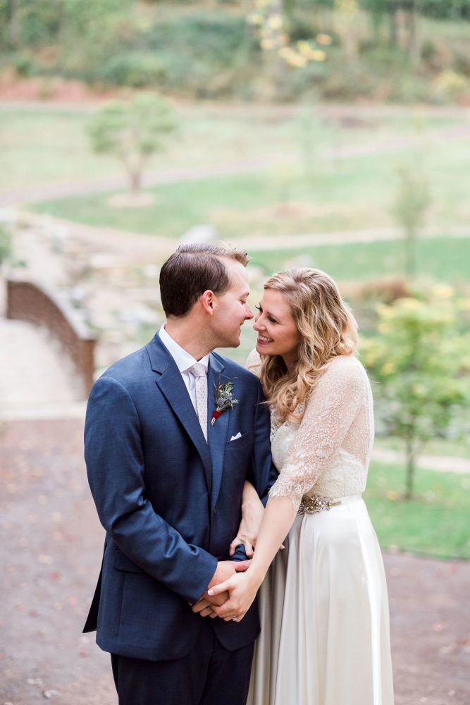 Sweet Bride and Groom Portraits: Thoughtful Vintage Wedding at the Pittsburgh Botanic Gardens from Caitlin's Living Photography featured on Burgh Brides