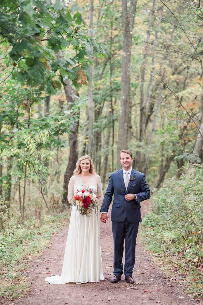 Woodsy Wedding Portraits: Thoughtful Vintage Wedding at the Pittsburgh Botanic Gardens from Caitlin's Living Photography featured on Burgh Brides