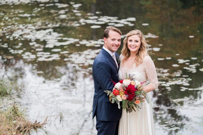 Fall Wedding Portraits: Thoughtful Vintage Wedding at the Pittsburgh Botanic Gardens from Caitlin's Living Photography featured on Burgh Brides