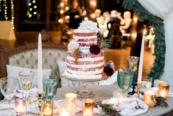 Naked Wedding Cake: Thoughtful Vintage Wedding at the Pittsburgh Botanic Gardens from Caitlin's Living Photography featured on Burgh Brides