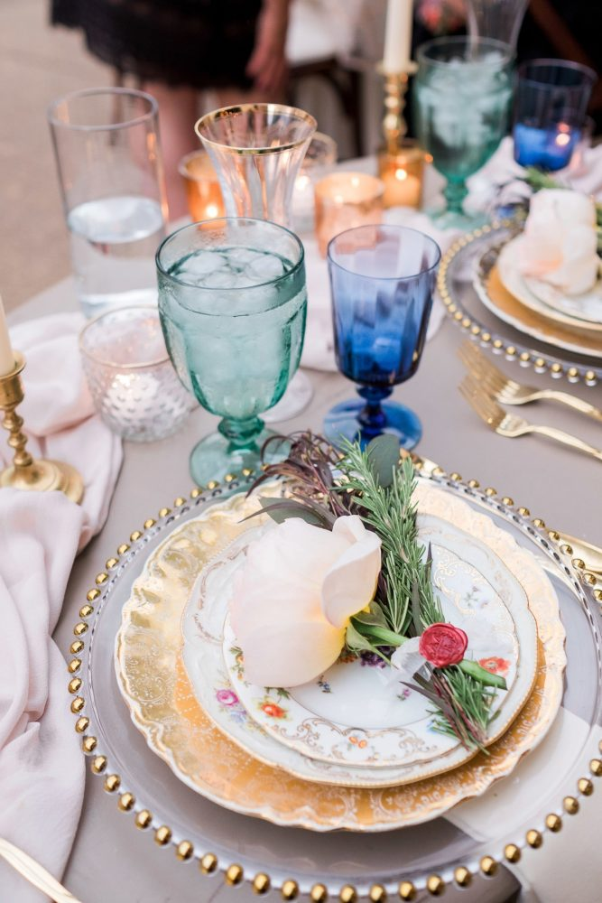 Vintage Wedding Tablescape: Thoughtful Vintage Wedding at the Pittsburgh Botanic Gardens from Caitlin's Living Photography featured on Burgh Brides