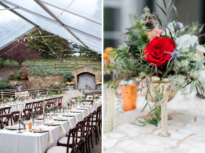 Outdoor Wedding Decor: Thoughtful Vintage Wedding at the Pittsburgh Botanic Gardens from Caitlin's Living Photography featured on Burgh Brides