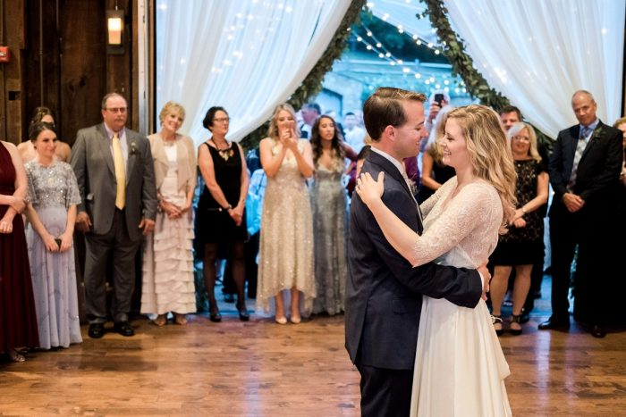 Bride and Groom Dance: Thoughtful Vintage Wedding at the Pittsburgh Botanic Gardens from Caitlin's Living Photography featured on Burgh Brides