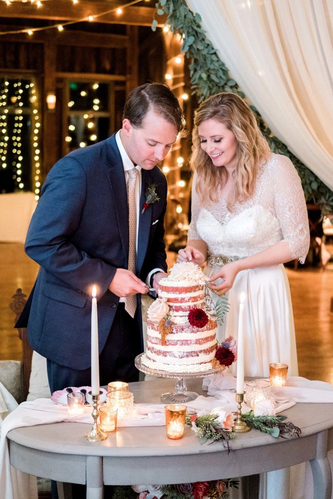 Wedding Cake Cutting: Thoughtful Vintage Wedding at the Pittsburgh Botanic Gardens from Caitlin's Living Photography featured on Burgh Brides