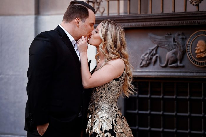 Black Tie Engagement Session from Kristi Telnov Photography featured on Burgh Brides