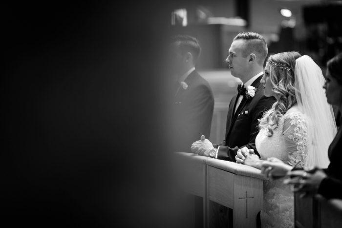 Elegant Striped Wedding at the Wyndham Grand Pittsburgh from Kristen Wynn Photography featured on Burgh Brides