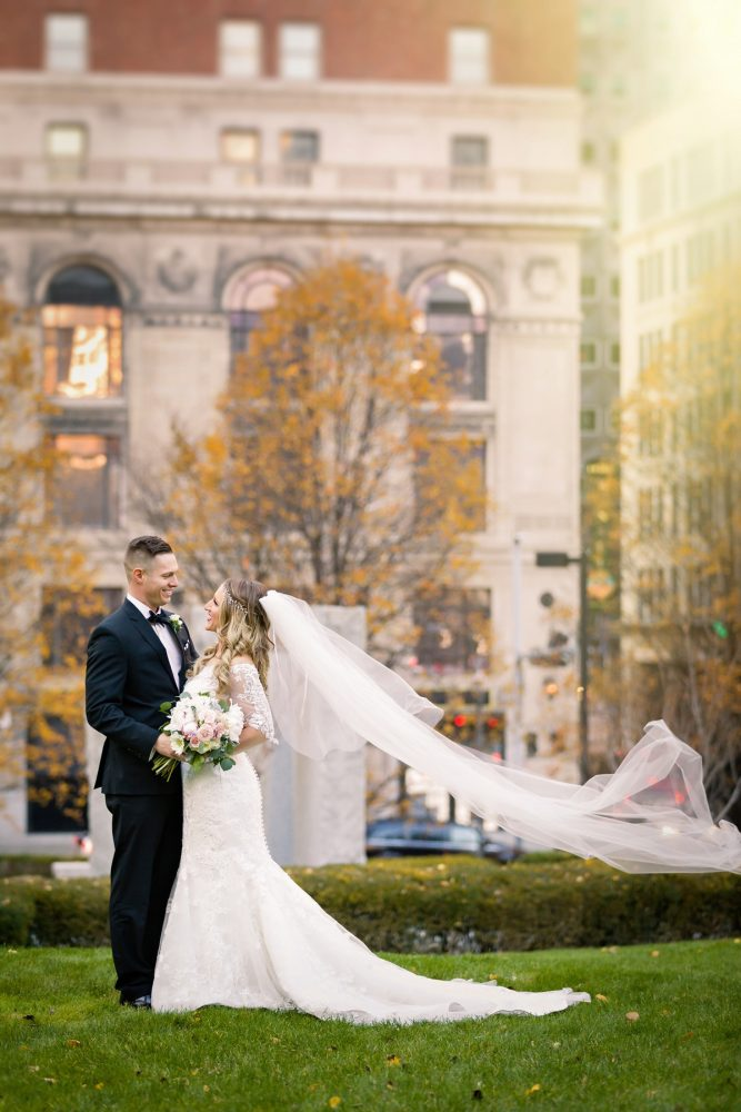Pittsburgh Wedding Photos: Elegant Striped Wedding at the Wyndham Grand Pittsburgh from Kristen Wynn Photography featured on Burgh Brides