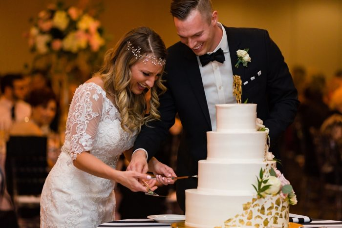 Elegant Striped Wedding at the Wyndham Grand Pittsburgh from Kristen Wynn Photography featured on Burgh Brides