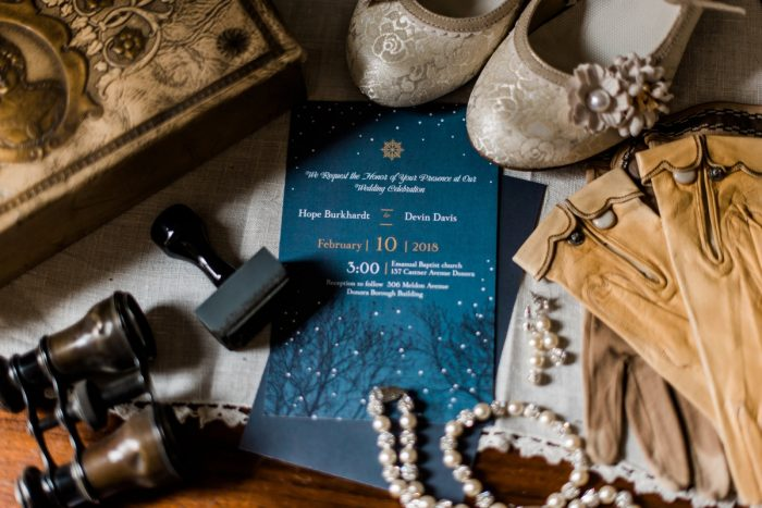 Navy Blue Wedding Invitations: Enchanting Forest Inspired Wedding from Dawn Derbyshire Photography featured on Burgh Brides