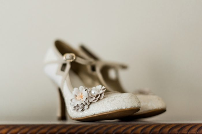 Vintage Styled Wedding Shoes: Enchanting Forest Inspired Wedding from Dawn Derbyshire Photography featured on Burgh Brides