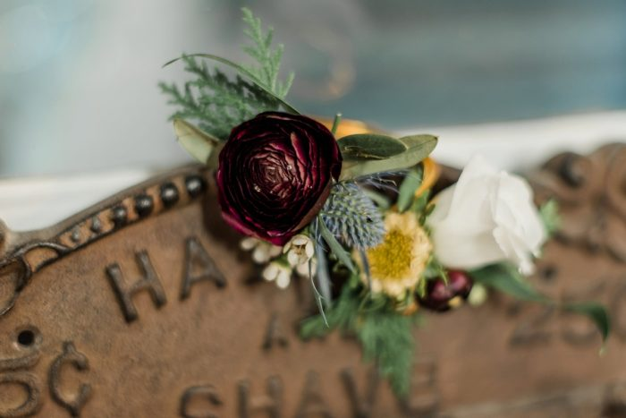 Groom Boutonniere: Enchanting Forest Inspired Wedding from Dawn Derbyshire Photography featured on Burgh Brides