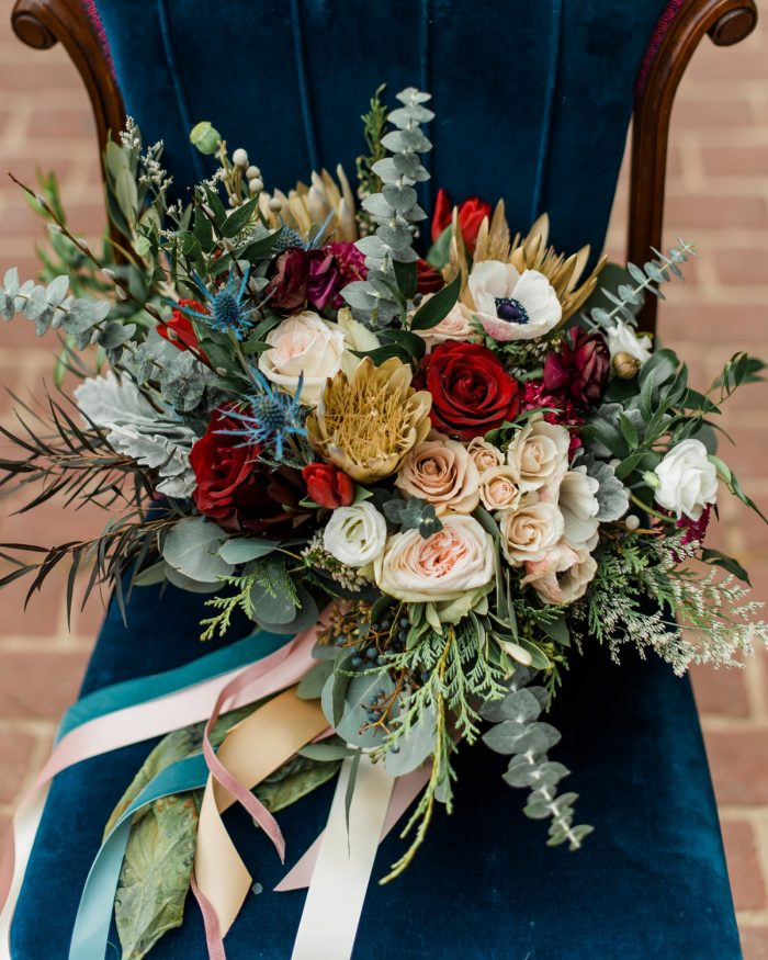Boho Wedding Bouquet: Enchanting Forest Inspired Wedding from Dawn Derbyshire Photography featured on Burgh Brides