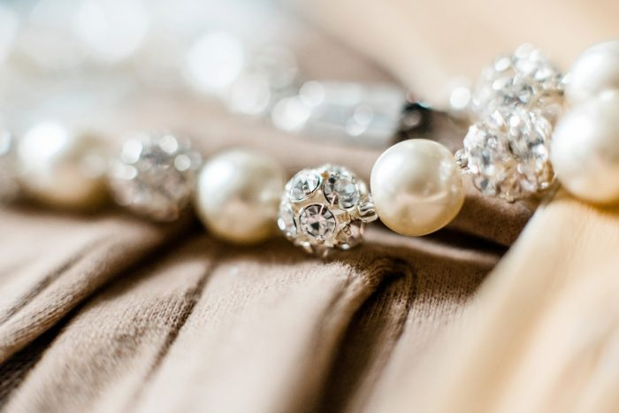 Bridal Pearl Bracelet: Enchanting Forest Inspired Wedding from Dawn Derbyshire Photography featured on Burgh Brides
