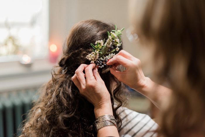 Bridal Hair Accessories: Enchanting Forest Inspired Wedding from Dawn Derbyshire Photography featured on Burgh Brides