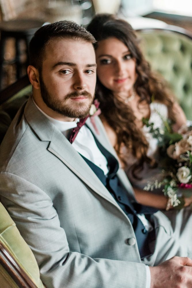 Bride and Groom Portraits: Enchanting Forest Inspired Wedding from Dawn Derbyshire Photography featured on Burgh Brides