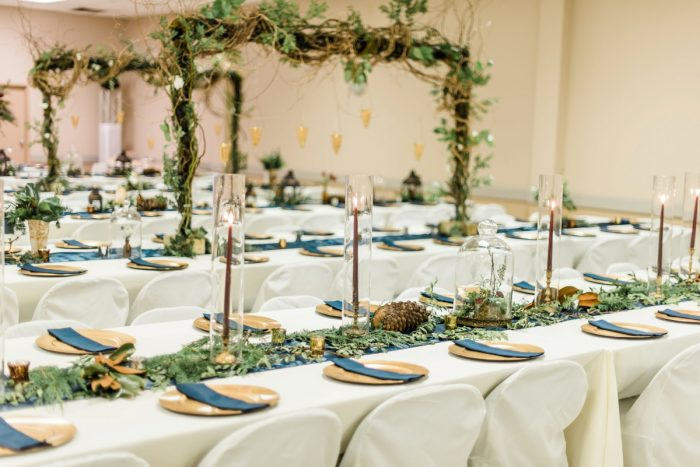 Woodsy Wedding Decor: Enchanting Forest Inspired Wedding from Dawn Derbyshire Photography featured on Burgh Brides