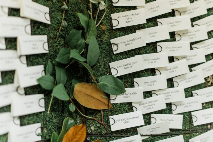Woodsy Wedding Escort Cards: Enchanting Forest Inspired Wedding from Dawn Derbyshire Photography featured on Burgh Brides