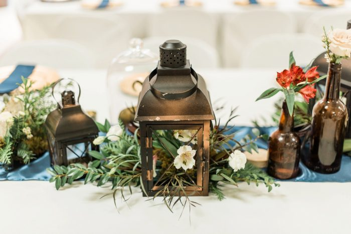 Lantern Wedding Centerpieces: Enchanting Forest Inspired Wedding from Dawn Derbyshire Photography featured on Burgh Brides