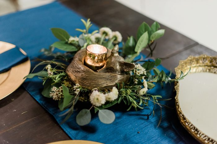 Woodsy Wedding Centerpieces: Enchanting Forest Inspired Wedding from Dawn Derbyshire Photography featured on Burgh Brides