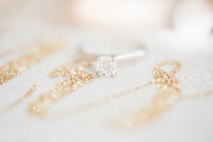 Round Diamond Engagement Ring: Fresh Vintage Inspired Wedding at the Twentieth Century Club from Levana Melamed Photography featured on Burgh Brides